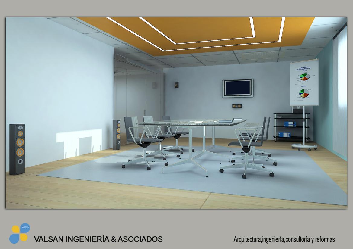 Dise o 3d para nuevas oficinas en elche valsan for Oficinas de ing